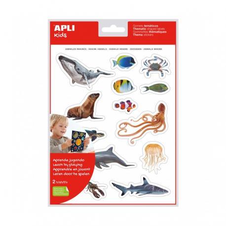 Стикери Морски животни-реалистични