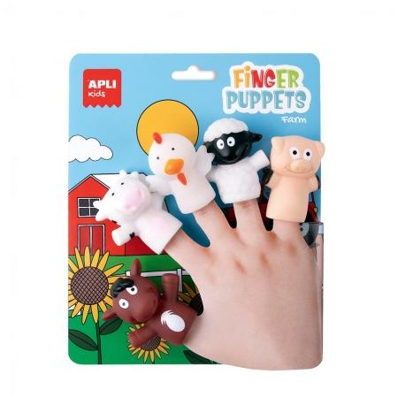 Кукли за пръстчета Животни от фермата, 5 бр.
