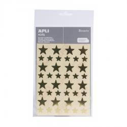 APLI Самозалепващи стикери Звезди, 120 броя