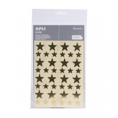 APLI 11806 Самозалепващи стикери-Звезди-2