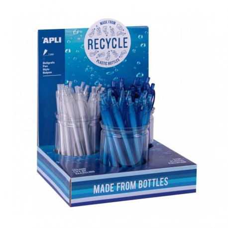 Химикалки от рециклирани пластамасови бутилки.