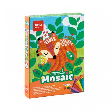 Детска мозайка - творчески комплект за картини на тема Животни