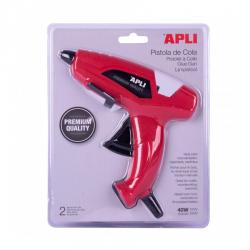 Apli 13942 Пистолет за лепене със силикон 40W + 2 силиконови лепилни пръчки 11mm