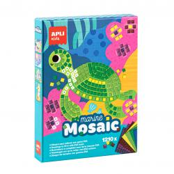 Детска мозайка - творчески комплект за картина на тема Морски свят