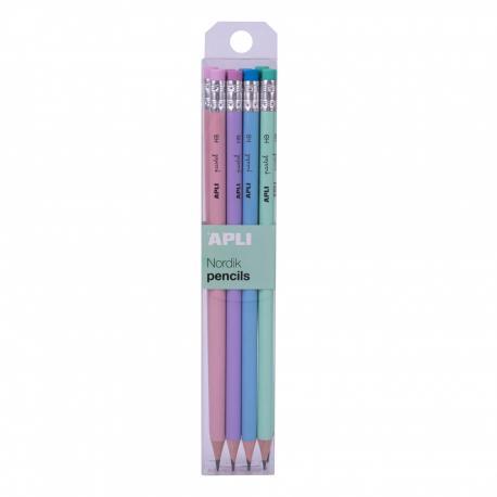 Комплект 24 молива в цилиндър, 4мм