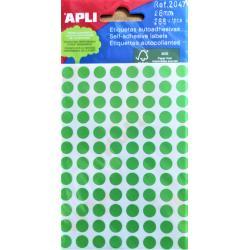 APLI Цветни етикети Ф8 за ръчно писане - различни цветове