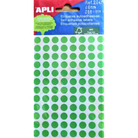 APLI Цветни етикети Ф8 за ръчно писане