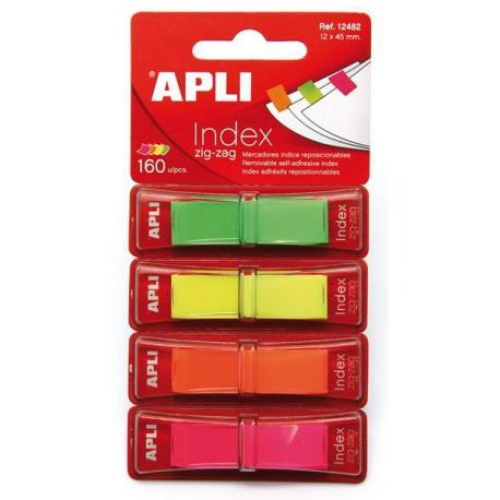 APLI 12482 Индекси Zig-Zag 4 флуоресцентни цвята