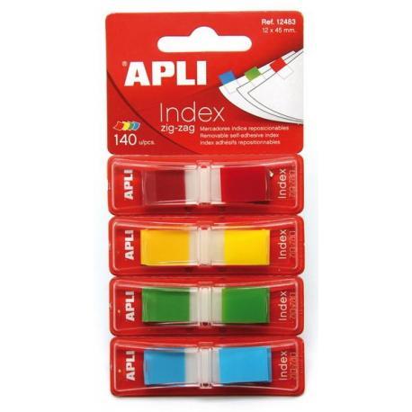 APLI 12483 Индекси Zig-Zag 4 пастелни цвята