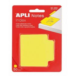 APLI 12628 Самозалепващи индекс листчета жълти