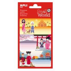 APLI 12948 Ученически етикети Малък свят-Индия, Япония, Китай