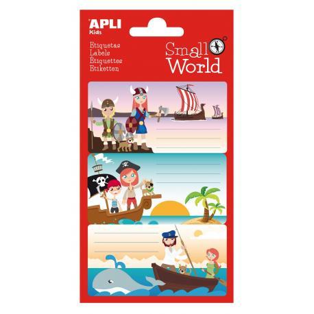APLI 12951 Ученически етикети Малък свят-Викинги, пирати, Моби Дик