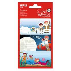 APLI 12952 Ученически етикети Малък свят - Северен полюс, космос, океани
