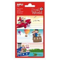 APLI 12953 Ученически етикети Малък свят - Авиация, пътешествия с балони и кораби