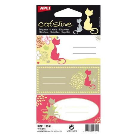 APLI 12741 Ученически етикети, серия Котките
