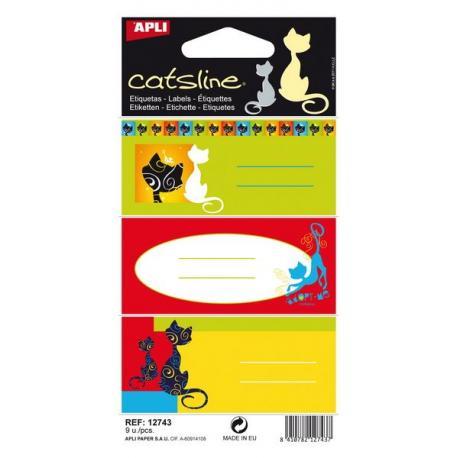 APLI 12743 Ученически етикети, серия Котките