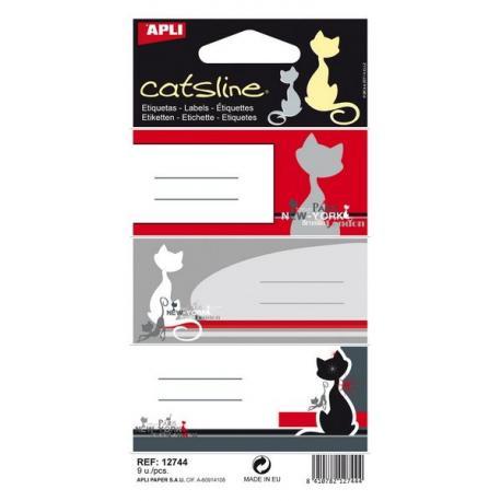 APLI 12744 Ученически етикети, серия Котките