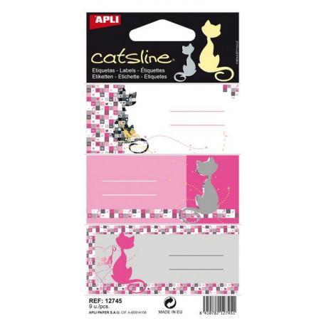 APLI 12745 Ученически етикети, серия Котките