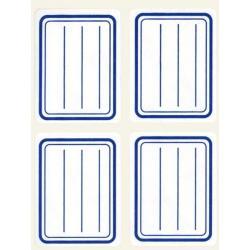 APLI 10195 Класически етикети,  на редове, синя рамка