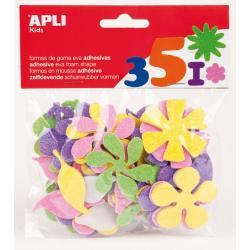 APLI 13078 Самозалепващи блестящи цветя EVA 48 бр.