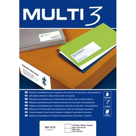 Multi 3 - 04715 Бели самозалепващи етикети