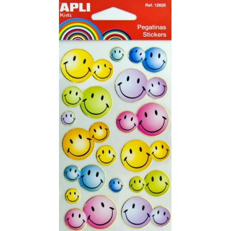 APLI 12834 Самозалепващи стикери за декорация - Усмивки