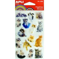 APLI 12833 Самозалепващи стикери за декорация - Котки - 2
