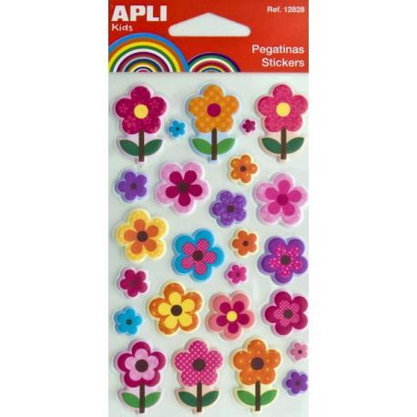 APLI 12829 Меки и обемни самозалепващи стикери за декорация - Цветя