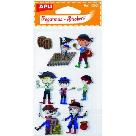 APLI 12300 Обемни самозалепващи стикери - Пирати