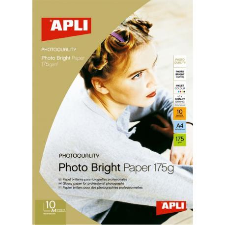 APLI 04454 Гланцирана фото хартия - Photo Bright 175 g/m²
