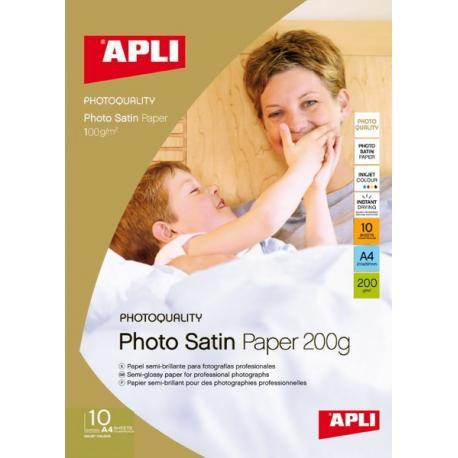 APLI 04453 Фото хартия Photo Satin полугланцирана А4 - 175 грама