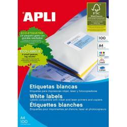Рециклирани бели самозалепващи етикети - APLI 12059