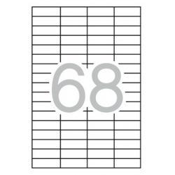 APLI 03053 презалепващи бели етикети