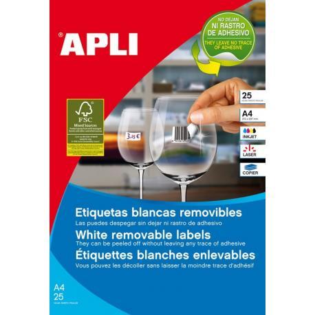 APLI 10197 презалепващи бели етикети