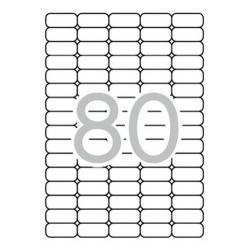 APLI 10199 презалепващи бели етикети