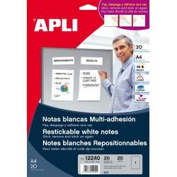 APLI 12240 презалепващи бели етикети A4