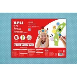APLI Kids 13409 - Крафт EVA пяна, светло синя с бели точки - 1 лист 600x400 mm