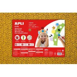 APLI Kids 13410 - Крафт EVA пяна, жълта, леопард - 1 лист 600x400 mm