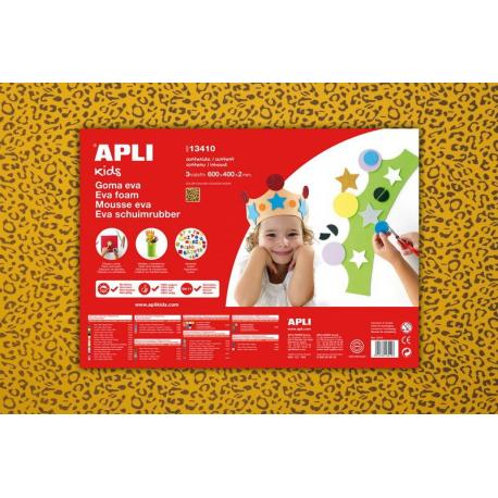 APLI Kids 13410 - EVA гума, жълта, леопард - 1 лист 600x400 mm
