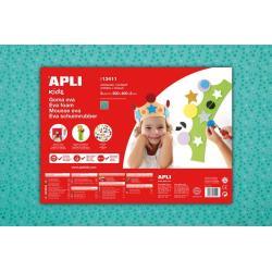 APLI Kids 13411 - Крафт EVA пяна, тюркоаз, цветя - 1 лист 600x400 mm