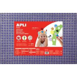 APLI Kids 13412 - Крафт EVA пяна, блестяща, синя с ефект на диаманти - 1 лист 600x400 mm