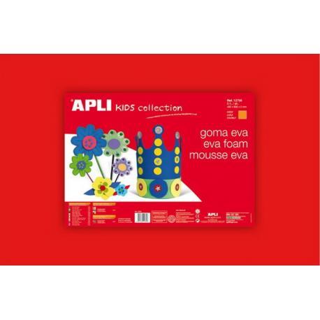 APLI Kids 12756 - EVA гума,едноцветна, червена - 1 лист 600x400 mm