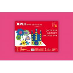 APLI Kids 12772 - Крафт EVA пяна,едноцветна, розова - 1 лист 600x400 mm
