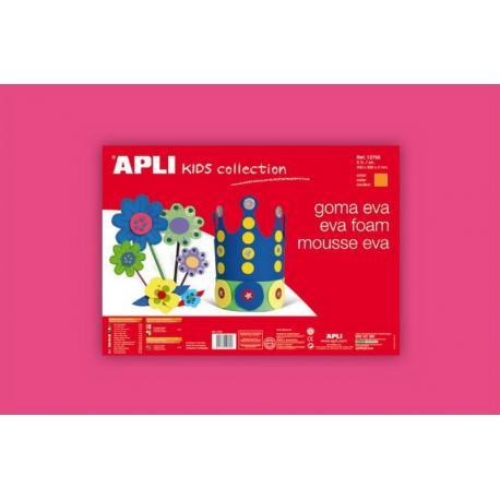 APLI Kids 12757 - EVA гума,едноцветна, розова - 1 лист 600x400 mm