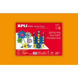 APLI Kids 12758- EVA гума,едноцветна, оранжева - 1 лист 600x400 mm