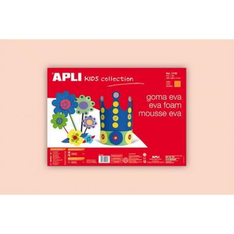 APLI Kids 12759- EVA гума,едноцветна, цвят на кожа - 1 лист 600x400 mm
