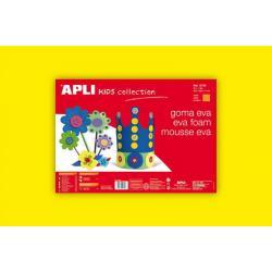 APLI Kids 12760 - Крафт EVA пяна,едноцветна, жълта - 1 лист 600x400 mm