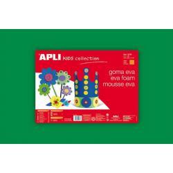 APLI Kids 12776 - Крафт EVA пяна, едноцветна, зелена - 1 лист 600x400 mm