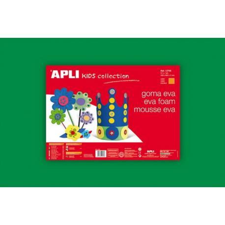 APLI Kids 12761 - EVA гума, едноцветна, зелена - 1 лист 600x400 mm