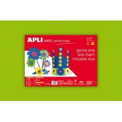 APLI Kids 12777 - Крафт EVA пяна, едноцветна, светло зелена - 1 лист 600x400 mm